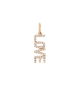 EF Collection 14KR DIAMOND LOVE CHARM PENDANT