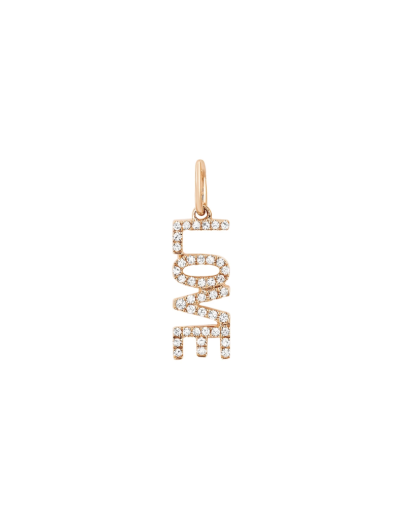 EF Collection 14KR DIAMOND LOVE CHARM PENDANT