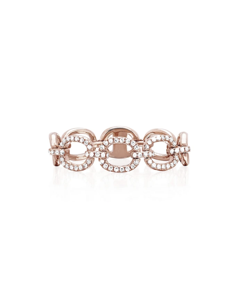 EF Collection 14KR DIAMOND CHAIN LINK RING SIZE 7