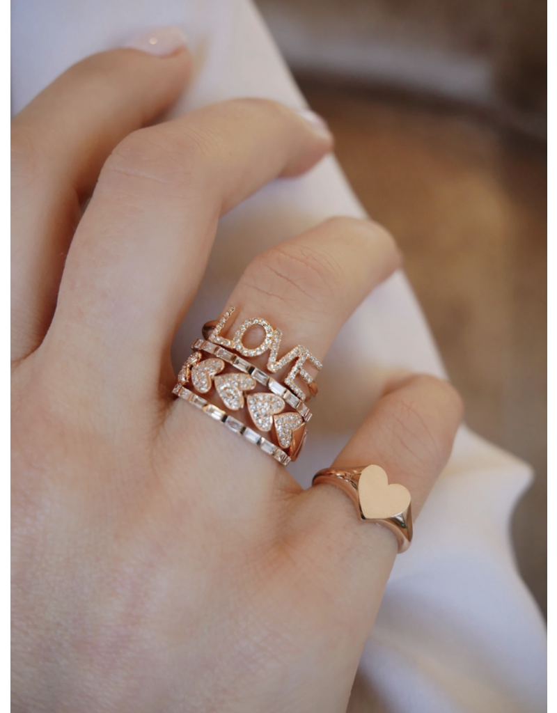 EF Collection 14KR DIAMOND LOVE RING SIZE 6