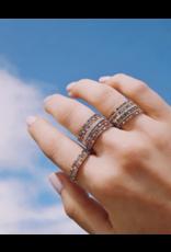 EF Collection 14KW DIAMOND RAINBOW ETERNITY BAND RING SIZE 7