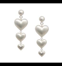 Rachel Quinn Triple Heart Earrings