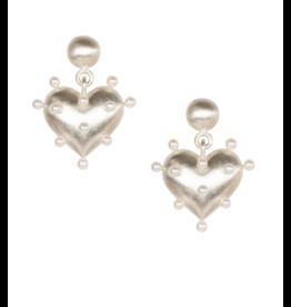 Rachel Quinn Pin Cushion Silver Earrings