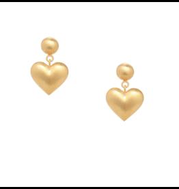 Rachel Quinn Small Puffed Heart Earrings