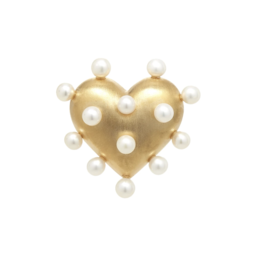 Pin Cushion Gold Heart Ring