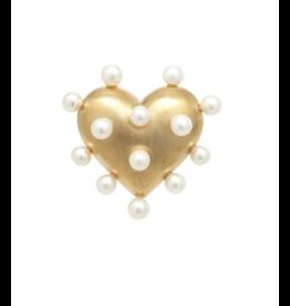 Rachel Quinn Pin Cushion Gold Heart Ring