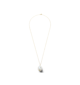 Mizuki Baroque Pearl And Diamond Pendant Necklace.