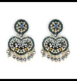 Gunmetal Fringe Earrings