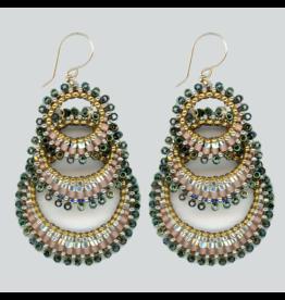 Three Tier Circle Earrings
