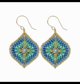 Pariba Blue Large Single Dangle Earrings