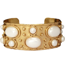 Byzantine White Pearls Cuff
