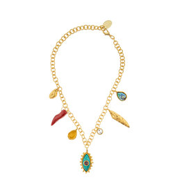 Small Luckycharms Multistone Necklace