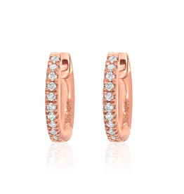 14K Rose Gold Extra Petite Huggie Single