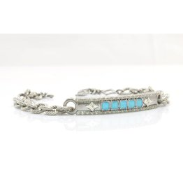 Sterling Silver ID Crivelli Chain Bracelet