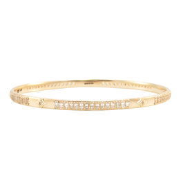 Rose Gold Champagne Diamond Bangle Bracelet