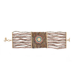 Rose Gold Hand Woven Beaded Bracelet