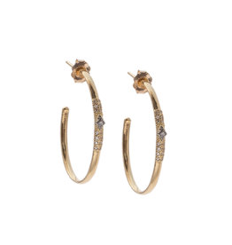 Old World Hoop Earrings with Diamonds