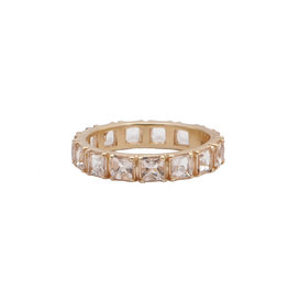 Rose Gold Peach Morganite Stacking Ring