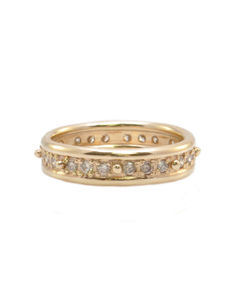 Rose Gold Champagne Diamond Band Ring