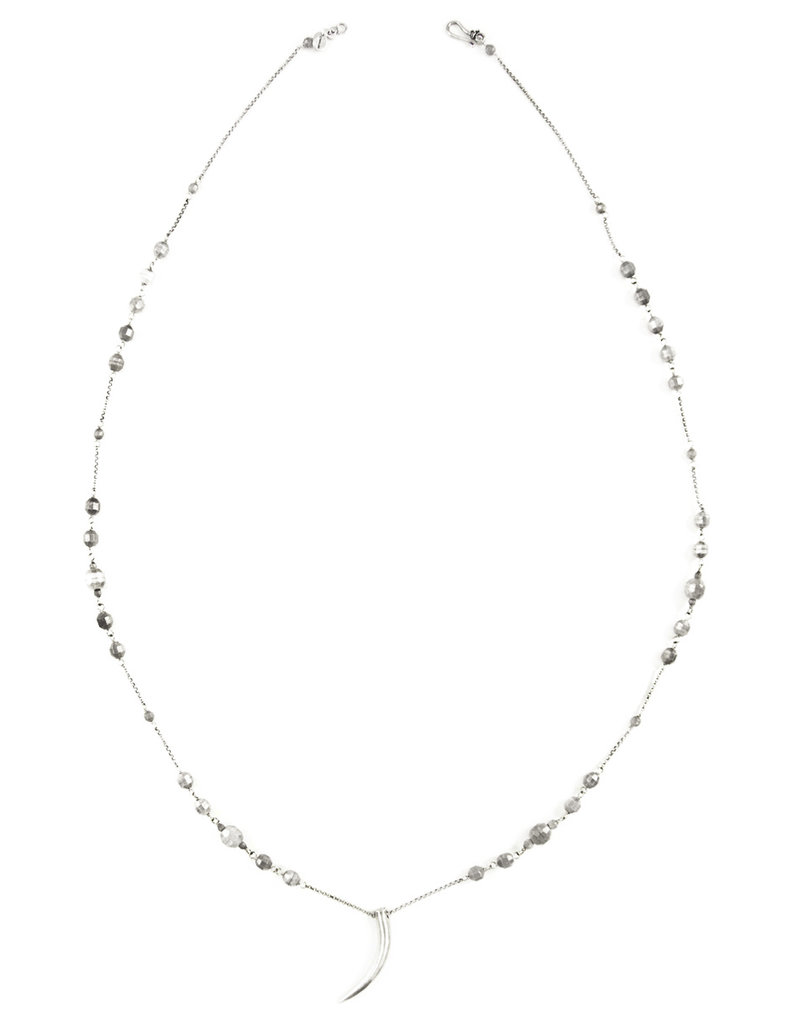 Silver Bead & Claw Necklace