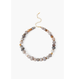 Agate Mixed Large Stone Necklace