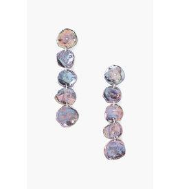 Five Blue Pearl Drop Earrings