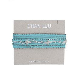 Chiffon Blue/cream Choker
