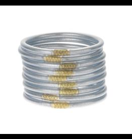Silver Bangles Medium (9 Pack)
