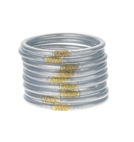 Silver Bangles Small (9 Pack)