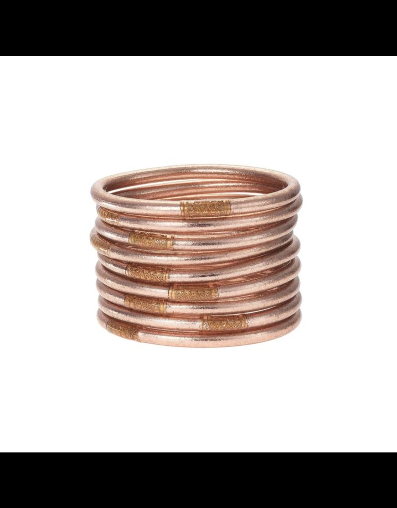 Rose Gold Bangles Medium (9 Pack)