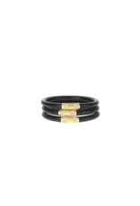 Black Bangles Gold Medium (3 Pack)