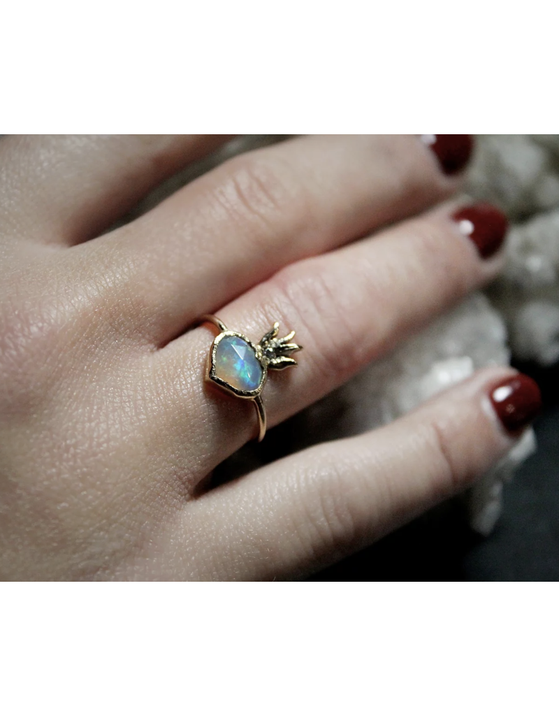 Opal Sacred Heart Ring Size 7