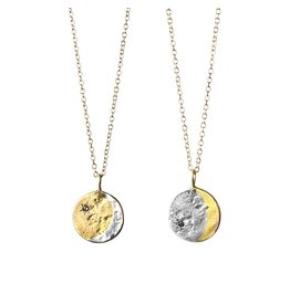 Lunar Coin 14k Gold and Silver