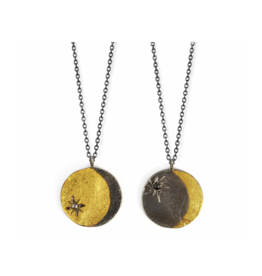 Double Sided Lunar Coin Pendant