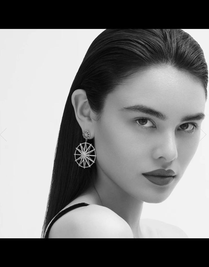 Maiko Frame Pave Drop Earrings