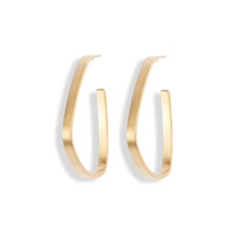 Small Gold Square Hoops