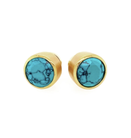 SIGNATURE LARGE KNOCKOUT STUDS TURQUOISE