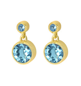 SIGNATURE DROPLET EARRINGS BLUE TOPAZ