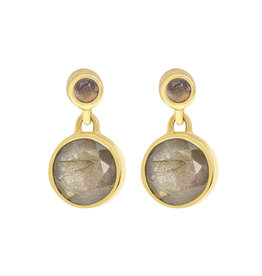 SIGNATURE DROPLET EARRINGS LABRADORITE