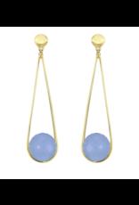IPANEMA EARRINGS BLUE CHALCEDONY