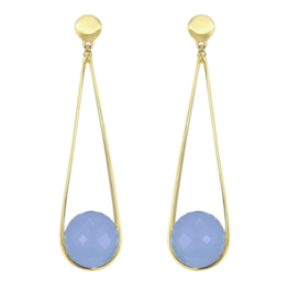 IPANEMA EARRINGS BLUE CHALCEDONY