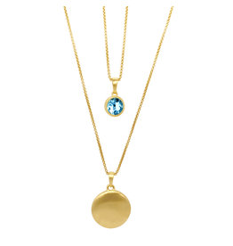 Blue Topaz Layered Necklace