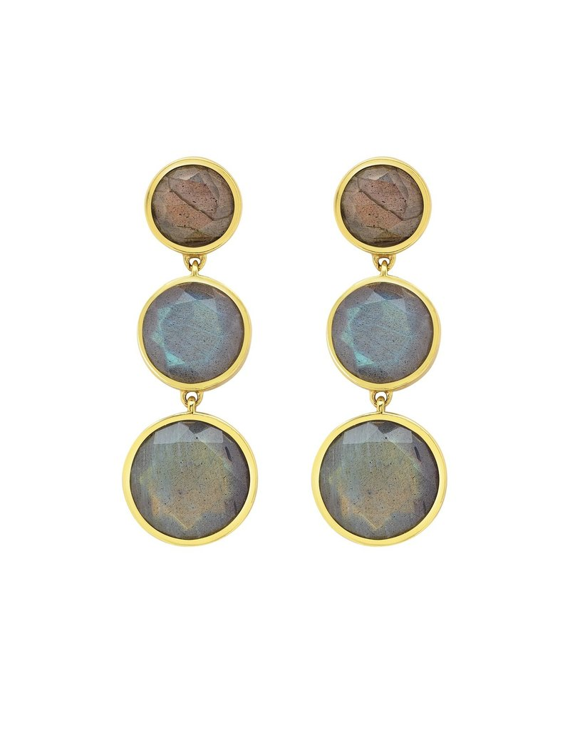 Labradorite Triple Drop Earrings