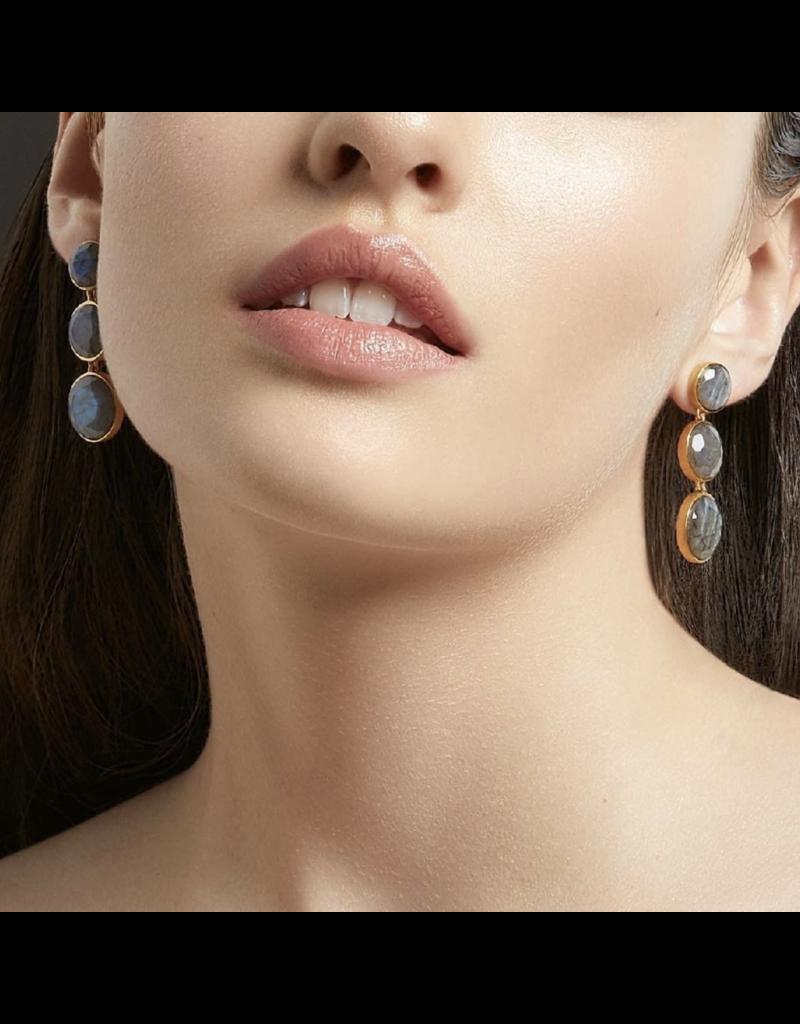 Blue Topaz Triple Drop Earrings