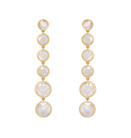 Moonstone Six Drop Earrings
