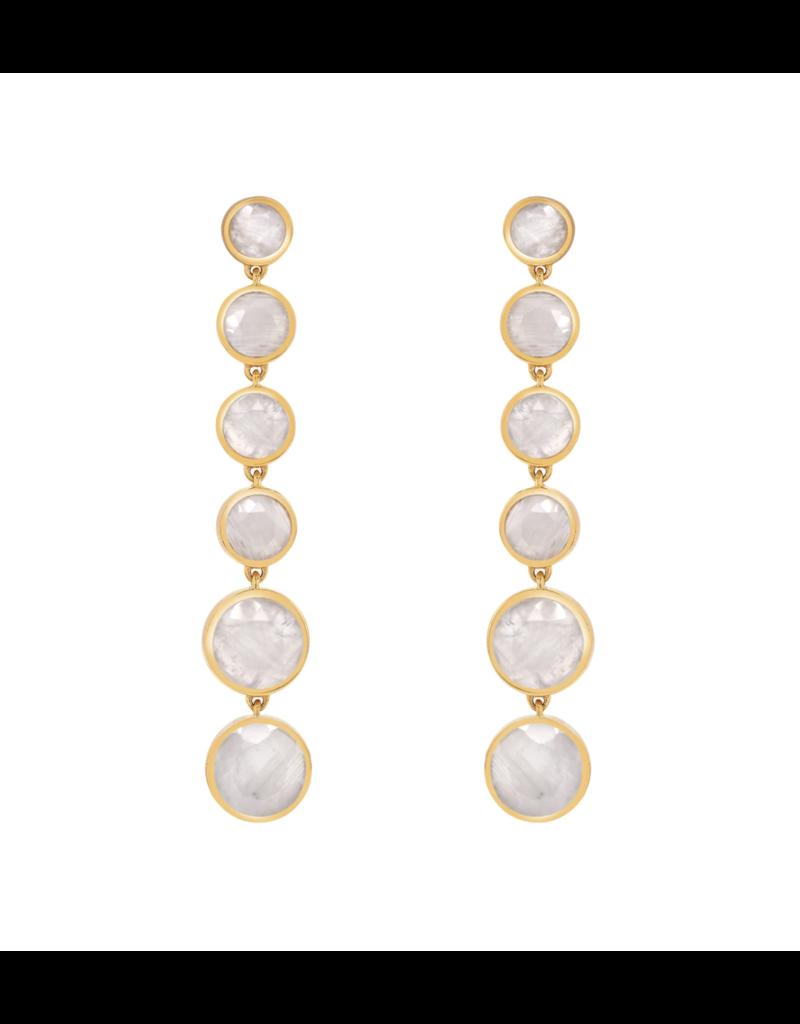Moonstone Six Drop Earrings
