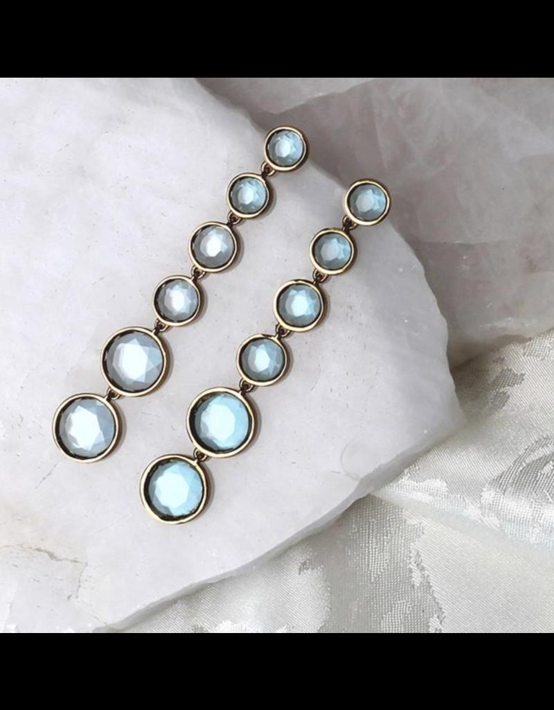Blue Topaz Six Drop Earrings