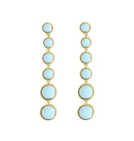 Blue Topaz Six Drop Earrings