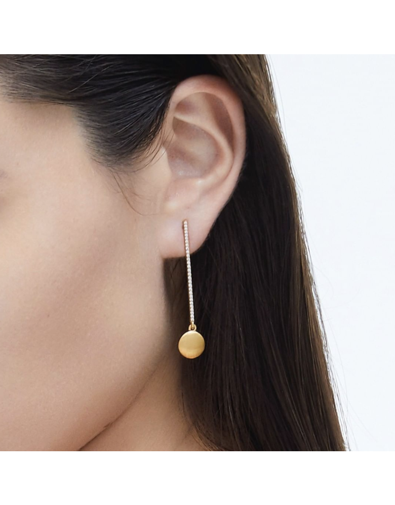 Signature Pave Drop Earrings