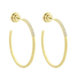 Gold Signature Hoop Pave